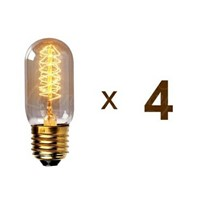LightInBox   40W E27/E26 110V/220V T45 Curved Line Pendant Light Lighting 4 Pack Edison Bulb Vintage Retro DIY Glass LED