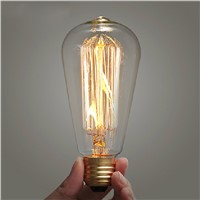 lightinbox ST64 110V/220V 40W Globe Retro Edison Lamp Bulb Light Incandescent Vintage Edison Light Bulb