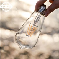Lightinbox  DIMMABLE Vintage light bulb squirrel cage filament old fashioned Edison E27 screw