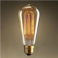 Lightinbox E27 60W ST64 Screw Vintage Retro Light Bulb Incandescent Edison old fashioned Style Squirrel Cage 110V/220V