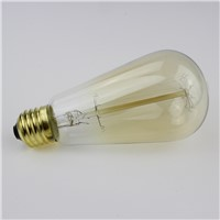 Lightinbox Vintage Edison Bulb Light Lamp AC 110V/220V E27 Vintage Edison Bulbs Incandescent Lamp Decor Light Bulb Wholesale