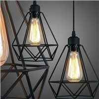 Fashion Contemporary American Country style E27 indoor lighting  iron painted pendant light 16 Variety iron cage light fixture