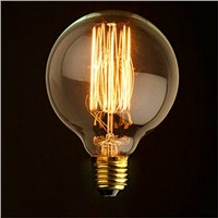 Lightinbox Globe 80/95/125 Vintage Light Bulb Filament Edison Style E27 Screw