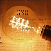 Lightinbox Vintage Edison Light Bulb E27 G80 Incandescent Lamps Filament Bulb Edison Lamp for Home Decoration Lighting 99