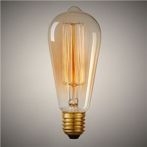 Lightinbox Retro Bulb 110V/220V E26/E27 40W/60W Incandescent Bulbs Vintage Filament Bulb Edison Light Tungsten Lamps