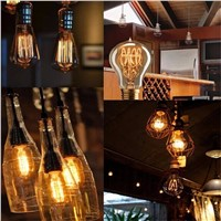 Lightinbox  Screw Vintage Retro Light Bulb Incandescent Edison old fashioned Style Squirrel Cage