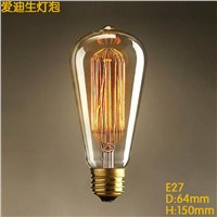 LightInBox E27 Straight Incandescent ST64 Filament Bulb Vintage Edison Bulbs Squirrel-cage Carbon Bulb For Pendant Lamp