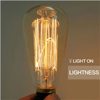 LightInBox Edison Vintage Bulbs For Antique Pendant Lamps E27 40W110-220V Incandescent Lights