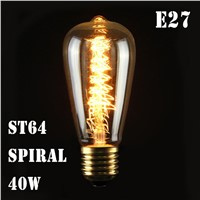 E27 40W 25W 220V Edison Industrial Style Vintage Retro Filament Light Bulb Lamp