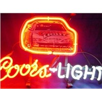 NEON SIGN board For Coors Light Nascar  Stirling Marlin Car GLASS Tube BEER BAR PUB Decorative Custom Led Light Signs 17*14""