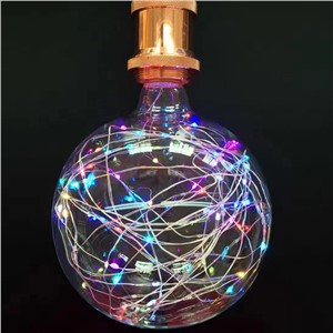 oobest 3W E27 RGB Colorful Glass Bulb Star String Novelty Night Lamp Home Party Festival Decorative Lighting Newest