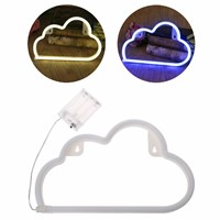 LED Cloud Neon Sign Light Night Lamp w/Battery Box Wedding Xmas Party Decor Bulbs