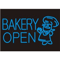Custom Signage NEON SIGNS Bakery Open Cake Bread Chef Business BAR PUB Signboard Display Decorate Store Shop Light Sign 24*20""