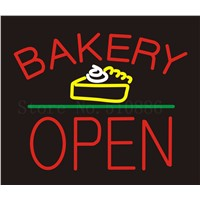 Custom Signage NEON SIGNS Bakery Open Cake Bread Business BAR PUB Signboard Display Decorate Store Shop Light Sign 24*20""