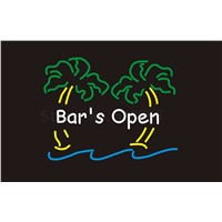 Custom Signage NEON SIGNS For Bar's Open Trees BAR PUB Signboard Display Decorate Store Shop Light Sign 24*20""