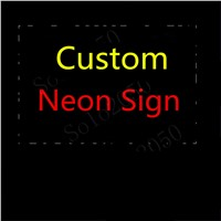 Custom NEON SIGN Signboard REAL GLASS BEER BAR PUB  display  christmas Light Signs
