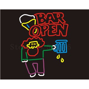 Custom Signage NEON SIGNS For Bar Wine Open Beer Club  BAR PUB Signboard Display Decorate Store Shop Light Sign 24*20""