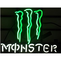 Custom Business NEON SIGN For MONSTER Sign board  REAL GLASS BEER BAR PUB  store display  Restaurant  Shop Light Signs 17*14""