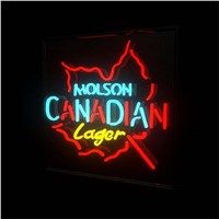 "17*14"" MOLSON CANADIAN LAGER NEON SIGN Signboard REAL GLASS BEER BAR PUB  Billiards display  Restaurant  Shop outdoor Light Sign"