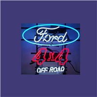 "17*14"" FORD 4X4 OFF ROAD NEON SIGN Signboard REAL GLASS BEER BAR PUB  Billiards display  Restaurant  Shop christmas Light Signs"