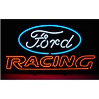 NEON SIGN For  FORD AMERICAN AUTO FORD RACING SIGN Signboard REAL GLASS BEER BAR PUB  display   outdoor Light Signs 17*14""