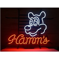 NEON SIGN For  HammS  SIGN Signboard REAL GLASS BEER BAR PUB  display   christmas Light Signs 17*14""