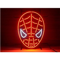 NEON SIGN For Red spiderman  Signboard REAL GLASS BEER BAR PUB  display  christmas Light Signs 17*14""