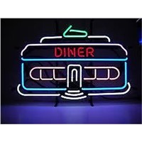 NEON SIGN For    DINNER HOUSE  Signboard REAL GLASS BEER BAR PUB  display  outdoor Light Signs 17*14""