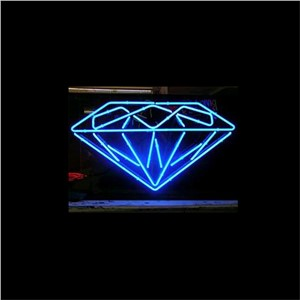 "17*14"" DIAMOND christmas NEON SIGN Signboard REAL GLASS BEER BAR PUB  Billiards  store display  Restaurant  Shop Signs Bulb"