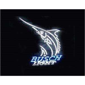 NEON SIGN For Busch Light  SIGN Signboard REAL GLASS BEER BAR PUB  display   outdoor Light Signs 17*14""