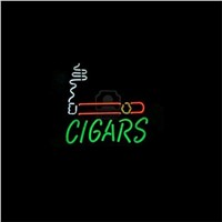"17*14"" CIGARS outdoor NEON SIGN Signboard REAL GLASS BEER BAR PUB  Billiards  store display  Restaurant  Shop Signs Bulb"