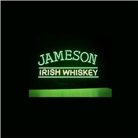 NEON SIGN For JAMESON IRISH WHISKEY SIGN Signboard REAL GLASS BEER BAR PUB  display   christmas Light Signs 17*14""
