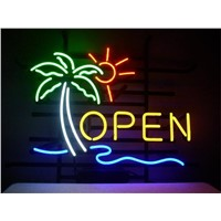 NEON SIGN For  OPEN SIGN Signboard REAL GLASS BEER BAR PUB  display Restaurant  christmas Light Signs 17*14""