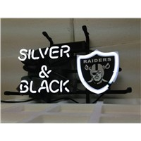 NEON SIGN For OAKLAND RAIDERS FOOTBALL  Signboard REAL GLASS BEER BAR PUB  display  RESTAURANT christmas Light Signs 17*14""