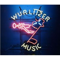 NEON SIGN for wurlttzer music Suona  Speaker  REAL GLASS BEER BAR PUB  display  Light Signs Signboard   Store Shops 19*15""