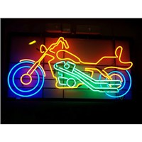 NEON SIGN for Motorcycle    REAL GLASS BEER BAR PUB  display  Light Signs Signboard   Store Shops 19*15""