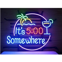 NEON SIGN For  ITS 500 SOMEWHERE   Signboard REAL GLASS BEER BAR PUB  display  christmas Light Signs 17*14""