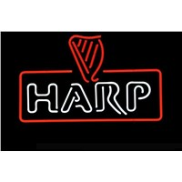 NEON SIGN For  HARP LAGER GUINNESS  Signboard REAL GLASS BEER BAR PUB  display  RESTAURANT christmas Light Signs 17*14""