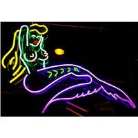 NEON SIGN for Mermaid woman REAL GLASS BEER BAR PUB  display  Light Signs Signboard   Store Shops 19*15""