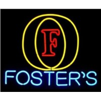 Business Custom NEON SIGN board For Foster's Logo Beer Alcohol Bar Pub Store GLASS Tube BEER BAR Club Shop Light Signs 19*15""