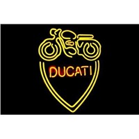 Business Custom NEON SIGN board For Italian Ducati Classic Oldschool Motorcycle Tube BEER BAR PUB Club Shop Light Signs 16*14""