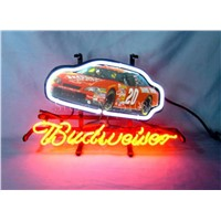 NEON SIGN  For Budweiser Autographed Nascar #20 Racing Car GLASS Tube BEER BAR PUB Decorative Custom Led Light  Signs 17*14""