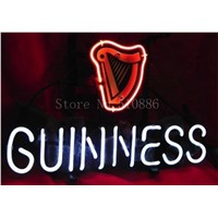 NEON SIGN For Irish Guinness Dry Stout Signboard  Business  Real GLASS Tube BEER BAR PUB  store display  Shop Light Signs 17*14""