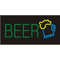 NEON SIGN For Beer Cup Real GLASS Tube BEER BAR PUB Restaurant Signboard store display Decorate Store Shop Light Signs 17*14""