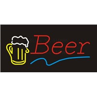 NEON SIGN For Beer Disco Real GLASS Tube BEER BAR PUB Restaurant Signboard store display Decorate Store Shop Light Signs 17*14""