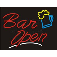 NEON SIGN For Maitini Bar Open Cave Sex Girls Wine Real GLASS Tube Beer PUB Restaurant Signboard display Shop Light Signs 17*14""