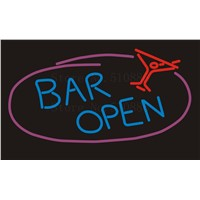 NEON SIGN For Maitini Bar Open Wine&Beer Pong Real GLASS Tube Beer PUB Restaurant Signboard display Shop Light Signs 17*14""
