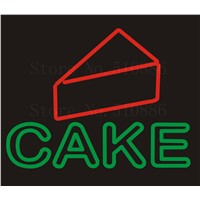 NEON SIGN For Cake Beer Wine Real GLASS Tube BAR PUB Restaurant Signboard Display Decorate Store Shop Light Signs 17*14""