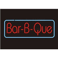 Custom NEON Sign Board BBQ Bar B Que barbecue GLlass Tube Bar Club Pub Display Store Shop Light Signboard Signage Signs 17*14""