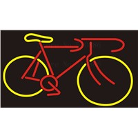 Custom NEON Sign Board Bike bicycle motorcycle Glass Tube Bar Club Pub Display Store Shop Light Signboard Signage Signs 17*14""
